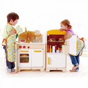 آشپزخانه کودک چوبی مدل hape 3100 مهد کودک