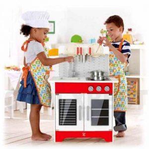 آشپزخانه کودک چوبی City Café Play Kitchen hape خانه بازی