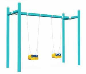 تاب دو نفره فلزی با کفی پلی اتیلنی مناسب فضای باز،با ایمنی عالی برای کودکان و قیمت مناسب