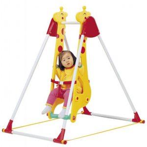 تاب کجاوه ای یک نفره طرح زرافه با ایمنی بالا و مناسب جهت استفاده در منازل،مهدکودک ها و خانه های بازی