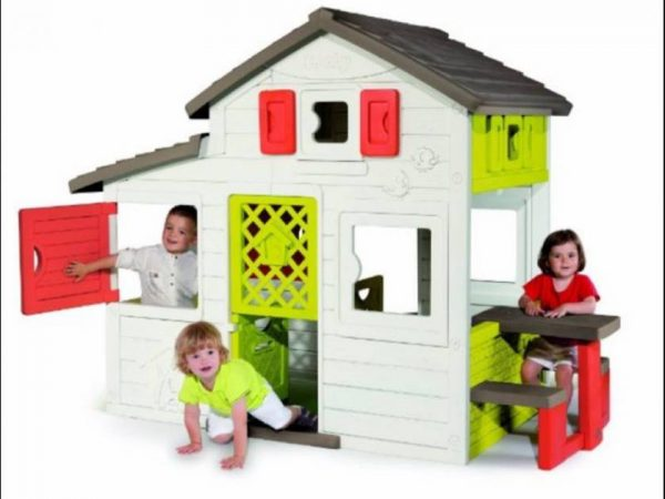 کلبه بازی کودک دوستان Smoby دوبلکس و مقاوم در برابر نور خورشید مناسب مهدکودک،خانه بازی،منزل و...