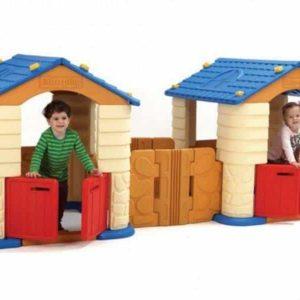 مجموعه دو کلبه خانه کودک با کیفیت بالا مناسب بازی کودکان بالای 1 سال در مهدکودک،خانه بازی،منزل و...