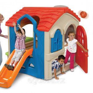 کلبه کودک 4 کاره مجموعه ای کامل از کلبه و چندین بازی جذاب مانند بسکتبال و فوتبال برای 8 تا 10 کودک
