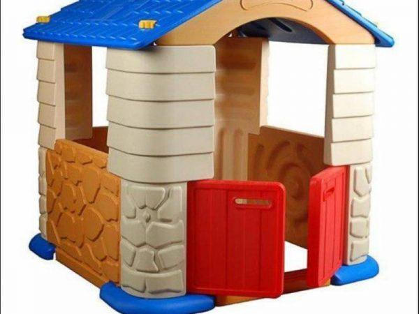 کلبه دو قلو کودک edu-play بسیار با کیفیت و مقاوم مناسب استفاده در فضای داخل و خارج مهدکودک،منزل و...