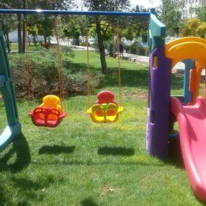 تاب و سرسره کشتی شادی آفرین مناسب فضای باز و مهد کودک و خانه بازی آفرین