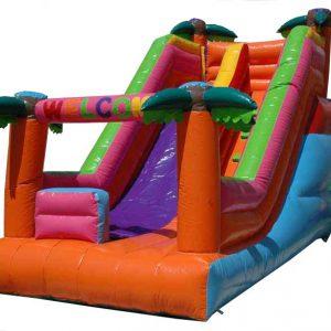 سرسره بادی چهار نخل مناسب بازی کودکان 3 تا 8 سال در مهدکودک،خانه بازی،شهربازی