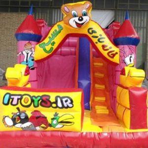 سرسره بادی مسیح با ارتفاع 2/7 متر و مناسب بازی کودکان 3 تا 8 سال در مهدکودک،خانه بازی،شهربازی و...
