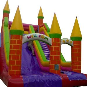 سرسره بادی پنج قلعه طرح آجری قابل استفاده در شهربازی،پارک بادی کودک و مراکز تفریحی کودکان