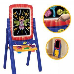 تخته نقاشی دو طرفه نورانی مناسب مهدکودک،پیش دبستانی،خانه بازی و منزل