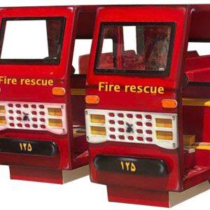 ماشین آتش نشانی چوبی مناسب بازی کودکان در منزل مهد کودک و خانه بازی