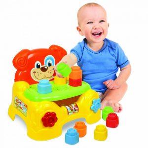 صندلی و پازل سگ کودک از جنس پلاستیک نرم مناسب استفاده در مهد کودک،خانه بازی،منزل و...