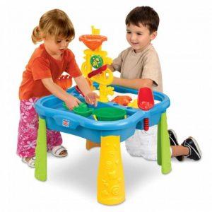 میز شن و آب بازی با ابزار و کاور مدل grow'n up 3019 خانه بازی