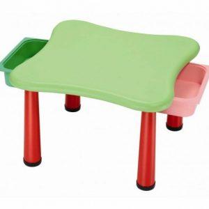 میز کودک 4 نفره پلی اتیلنی دارای دو کشو مناسب استفاده کودکان در منزل،مهدکودک،خانه بازی و پیش دبستانی