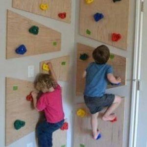 دیوار صخره نوردی کودک خانه بازی
