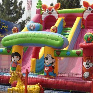 سرسره بادی پلنگ متوسط مناسب استفاده در شهرهای بازی،پارک های بادی و تمامی مکان های روباز تفریحی