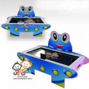 میز ایرهاکی سفینه دو موتوره و دارای قابلیت های خاص مناسب بازی همزمان 2 کودک در خانه بازی،شهربازی و...