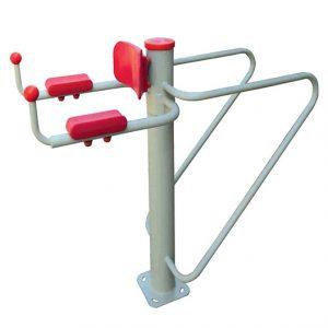 دستگاه بدنسازی ترکیبی پارالل و عضلات شکم قابل استفاده در پارک،فضاهای ورزشی و...