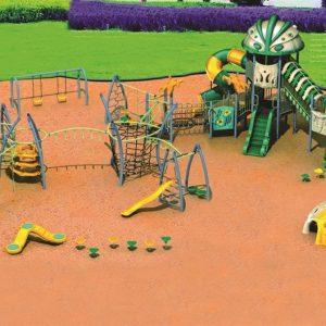 مجموعه بازی پلی اتیلنی ps 1123 مجموعه ای شامل سرسره،تور و طناب و... مناسب فضاهای باز 1