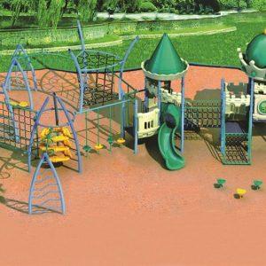 مجموعه بازی پلی اتیلنی ps 1138 مناسب بازی همزمان 50 کودک با مجموعه ای جدید از تور و طناب،سرسره و...