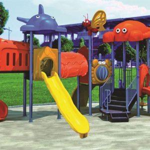 مجموعه بازی پلی اتیلنی ps 1147 با کیفیت بالا و قیمت مقرون،دارای طراحی جذاب مناسب استفاده در پارک