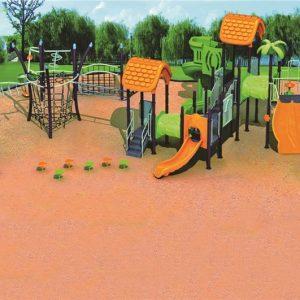 مجموعه بازی پلی اتیلنی ps 1149 مناسب استفاده حداکثر 50 کودک به صورت همزمان در تمامی مکان های روباز