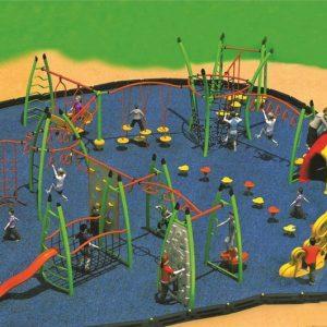 مجموعه بازی تور و طناب ps 2005 قابل استفاده برای 50 کودک به صورت همزمان در فضاهای بازی کودکان 1