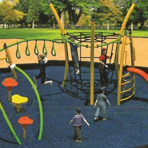 مجموعه بازی مدرن ps 2023 قابل استفاده در پارک،فضای باز مهد کودک و... 1