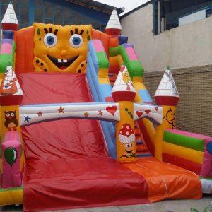 سرسره بادی باب اسفنجی بزرگ مناسب استفاده در تمامی مکان های تفریحی کودکان و شهربازی ها