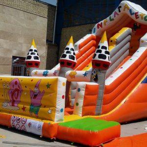 سرسره بادی شیروانی با ارتفاع 6/6 قابل استفاده در تمامی مکان های تفریحی کودکان مانند شهربازی و پارک بادی