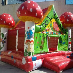 استخر توپ بادی طرح قارچ با کیفیت بالا مناسب بازی 5 کودک 3 تا 8 سال در مهدکودک،خانه بازی،شهربازی