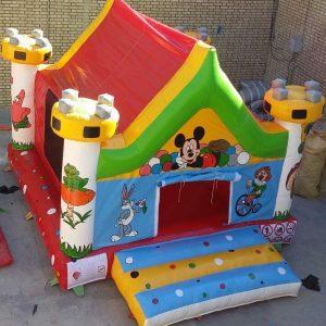 استخر توپ بادی قلعه با قابلیت تغییر رنگبندی و ابعاد مناسب اتستفاده در خانه بازی،مهدکودک،شهربازی