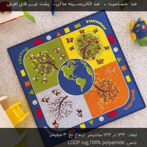 فرش کودک طرح چهار فصل با کیفیت بالا مناسب آموزش فصل ها به کودک در منزل،مهدکودک،خانه بازی و...