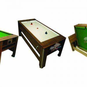 میز دوکاره ایرهاکی بیلیارد تن ساز قابل استفاده در فضاهای تفریحی کودکان و نوجوانان،کلوپ بازی و...