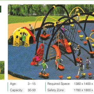 مجموعه بازی تور و طناب ps 2001 قابل استفاده در کلیه مراکز تفریحی کودکان