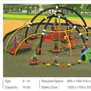 مجموعه بازی تور و طناب ps 2007 مناسب استفاده در پارک،فضاهای باز و...