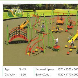 مجموعه بازی تور و طناب ps 2011 قابل استفاده در مراکز آموزشی تفریحی کودکان،پارک ها و...