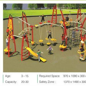 مجموعه بازی مدرن ps 2012 قابل استفاده در تمامی فضاهای باز تفریحی کودکان