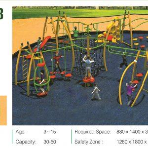 مجموعه بازی تور و طناب ps 2013 قابل استفاده در فضاهای باز تفریحی کودکان