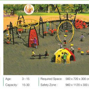 مجموعه بازی تور و طناب ps 2015 مناسب استفاده در پارک،شهربازی و فضاهای باز