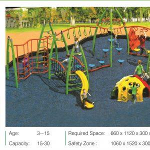مجموعه بازی مدرن ps 2020 قابل استفاده در فضاهای باز تفریحی کودکان،پارک ها و...
