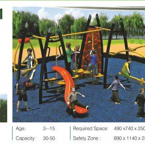 مجموعه بازی تور و طناب ps 2021 مناسب استفاده در تمامی فضاهای باز تفریحی کودکان،پارک ها و...