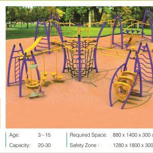 مجموعه بازی مدرن ps 2028 قابل استفاده در فضاهای باز و پارک ها