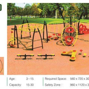 مجموعه بازی مدرن ps 2030 قابل استفاده در فضاهای باز تفریحی و پارک ها