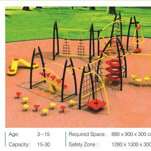 مجموعه بازی تور و طناب ps 2031 قابل استفاده در فضاهای باز و پارک ها