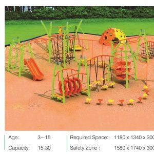 مجموعه بازی تور و طناب ps 2035 قابل استفاده برای پارک و فضاهای باز تفریحی