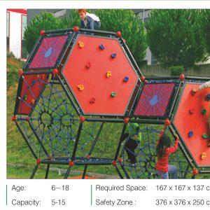 صخره نوردی کودک کد ps 3015 مناسب استفاده در فضاهای باز و بسته،پارک ها،مهدهای کودک و...