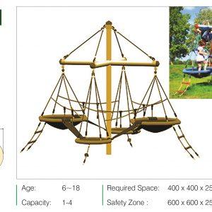 فروش نقد و اقساط مجموعه بازی تور و طناب ps 3021 با امکان نصب رایگان در باغ و ویلا،حیاط،پارک و... و با ارسال فوری به سراسر ایران