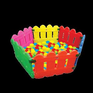استخر توپ نرده ای مناسب استفاده در مکان های تفریحی و بازی کودک